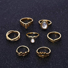 Load image into Gallery viewer, Womens Fahion Vintage Ring Set