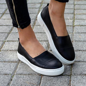 Solid Color Slip-On Flat Shoes