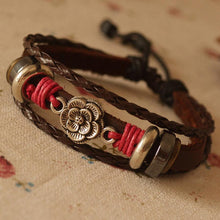 Load image into Gallery viewer, Vintage Flower Artificial Leather Bracelet