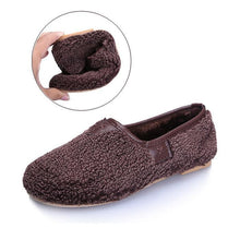 Load image into Gallery viewer, Soft Comfort Shoes Plush Slip On Warm Loafers