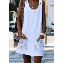 Load image into Gallery viewer, Cotton-Blend Sleeveless Butterfly Casual Dresses