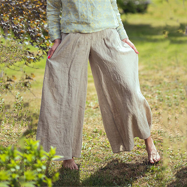 Women Casual Solid Loose Pants