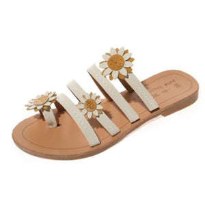 Women's Flip-Flops Soft Sweet Sunflower Ornament Slippers Sandals