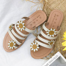 Load image into Gallery viewer, Women's Flip-Flops Soft Sweet Sunflower Ornament Slippers Sandals