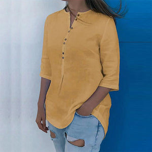 Women's Loose with Buttons Fashion Blouses