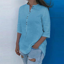 Load image into Gallery viewer, Women's Loose with Buttons Fashion Blouses