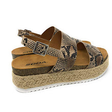 Load image into Gallery viewer, Women's Casual Trim Rubber Sole Cork Heel Espadrille Sandals