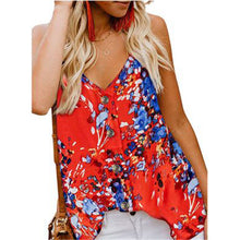Load image into Gallery viewer, Women's Printed V Neck Casual Vest