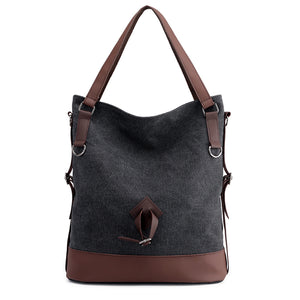 Women New Simple Big Capacity Canvas Handbag Shoulder Bag Daily Shopping Bag