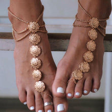 Load image into Gallery viewer, Women Alloy Bohemia Carved Anklets
