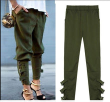 Load image into Gallery viewer, Casual Loose Pockets Elastic Waist Pants