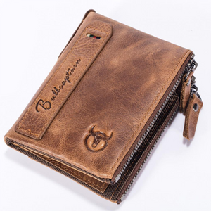 Casual Men Zipper Short Wallet