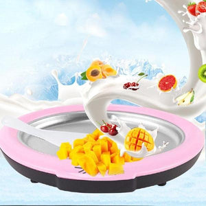 Mini Cartoon Manual Ice Cream Fried Yogurt Machine