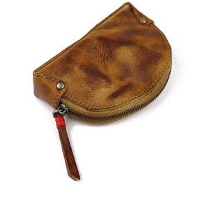 Men Retro Zipper Mini Coin Purse