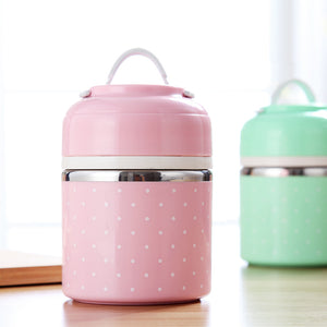 Hand-held Split Lovely Stainless Steel Lunch Box