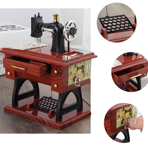 Vintage Music Box Mini Sewing Machine Style