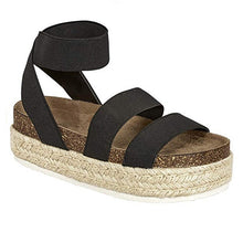 Load image into Gallery viewer, Women Summer Retro Roman Sandal Casual Flat Platform Shoes