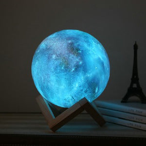15cm 3D Magical Moon Lamp USB Charging Night Light Touch Sensor