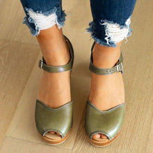 Load image into Gallery viewer, Fashion Peep Toe Casual Sandals