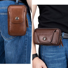 Load image into Gallery viewer, Retro Men Multifunction Fanny Pack Large Capacity Belt Waist Bag