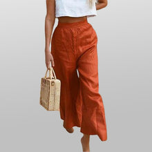 Load image into Gallery viewer, Women Solid Color Loose Pants