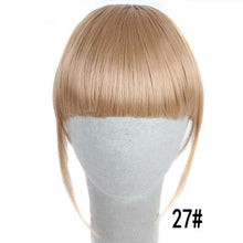 Load image into Gallery viewer, 3D Clip In Hair Bangs Hair Extensions Heat Resistant Synthetic Fake Bangs