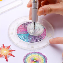 Load image into Gallery viewer, Children Educational Art Craft Gift Magic Creative Spirograph Drawing Toys
