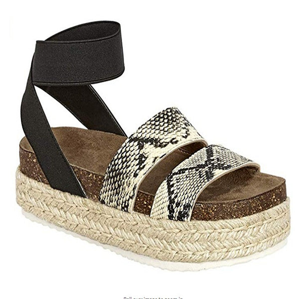 Women Summer Retro Roman Sandal Casual Flat Platform Shoes