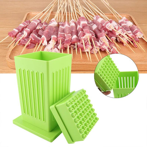 Protable 49 Holes BBQ Grill Food Beef Meat Maker Kit Barbecue Tools