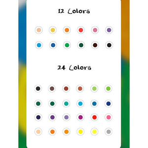 12/24 Colors Toddler Washable Safe Palm-Grip Crayons