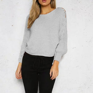 Sexy Pullover Long Sleeve Sweater