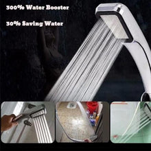 Load image into Gallery viewer, 300 Holes Pressurized Water Saving Shower Head
