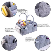 Load image into Gallery viewer, Multifunctional Felt Diaper Bag Folding Travel Bag