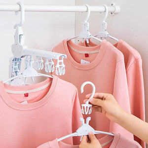 Foldable Clothes Hanger Space Saving Magic Coat Hanger Dryer Laundry Rack