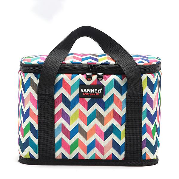 New Large-capacity Printed Outdoor Picnic Portable Lunch Bag
