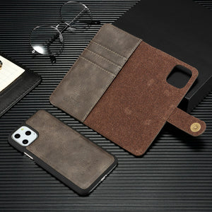 iPhone Removable Case Magnetic Flip Leather Card Wallet Cover