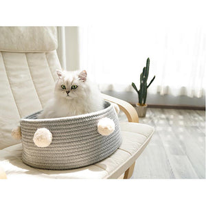Pet Calming Protable Basket Nest Dog & Cat Bed