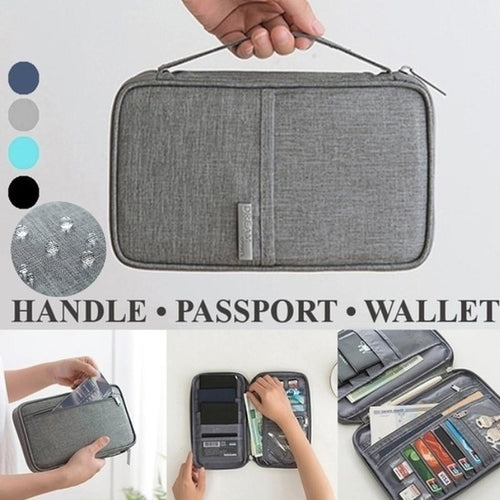 Waterproof Travel Handbag Zipper Organizer Passport Package Bag Multi-Function ID Card Holder