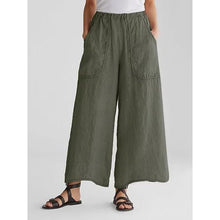 Load image into Gallery viewer, Cotton &  Linen Pockets Loose Wide Leg Casual Pants