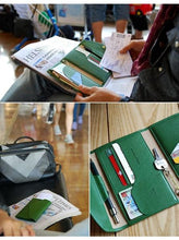 Load image into Gallery viewer, Multifunction Foldable Travel Passport Cover Bag