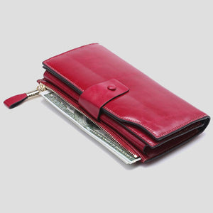 Women Zipper Large Capacity Long Hasp Coin Card Holders Wallet