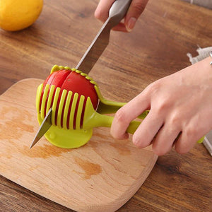 Manual Slicers Tomato Fruits Cutter Assistant Lounged Cooking Holder Kitchen Tool