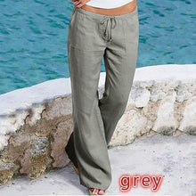 Load image into Gallery viewer, Plus Size Loose Linen Drawstring Pant