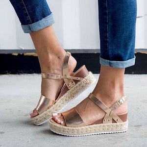 Espadrille Open Toe Thick Bottom Sandals