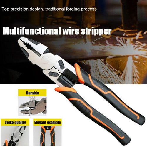 9 Inch Electrician Multifunctional Wire Stripper Cable Cutter Pliers