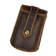 Load image into Gallery viewer, Leather Men's Car Key Wallets Waist Bag