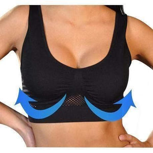 Air Permeable Cooling Summer Sport Yoga Wireless Liftup Air Bra