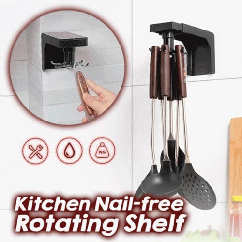 Kitchen Nail-free 360 Degree Rotating Shelf