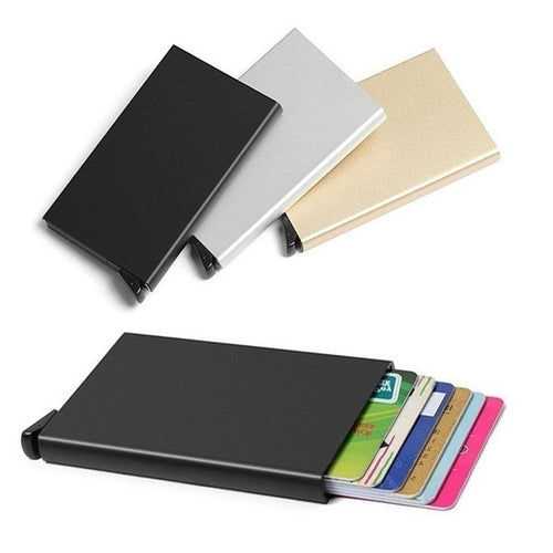 Men Women Credit ID Holder Metal Case Travel Wallet Aluminum Wallet