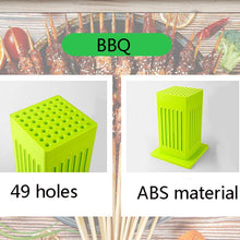 Load image into Gallery viewer, Protable 49 Holes BBQ Grill Food Beef Meat Maker Kit Barbecue Tools